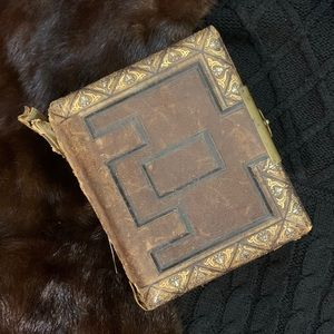 c.1800s Leather and Gilded Victorian Photo Album